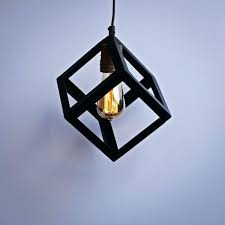 blue ceiling lights geometric lamp industrial decor interior ceiling pendant baby blue ceiling light shade
