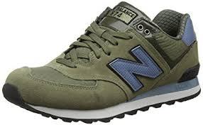 new balance uk. new balance men ml574cud-574 training running shoes, multicolor (green/blue 344 uk
