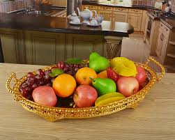 Decorated Fruit Trays gold plated metal round severing trays design fruit plates fruit 67