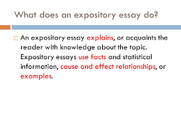 expository essay purpose to inform ppt video online  5 what does an expository