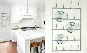 wall mount cup rack cup rack wall mount cup holder kitchen storage wall mount k cup