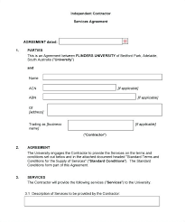 Simple Construction Contract Agreement Form Template Sample House