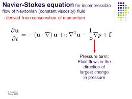 cp502 advanced fluid mechanics ppt navier stokes equations navier stokes equation derivation