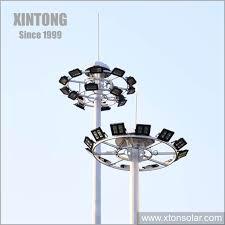 25m Design Hot Item 20m 25m Design Solar High Mast Lighting Price Light Pole Lowering
