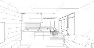 interior design sketches living room. Interior Vector Drawing. Architectural Design. Living Room Stock - 39970322 Design Sketches