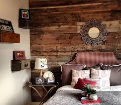 Cottage Inspired Bedroom With Unfinished Wooden Panel