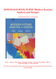 Modern Systems Analysis And Design 7th Edition Pdf Download Download Book In Pdf Modern Systems Analysis And Design