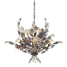 elk lighting brillare six light bronzed rust chandelier