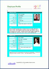 Employee Profile Sample Employee Profile Template