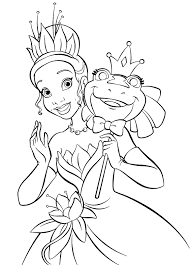 Princess And The Frog Coloring Pages Printablell