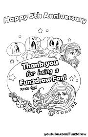 Small Picture Fun2draw Freebies Fifth Year Anniversary Coloring Page