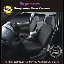 subaru outback seat covers front pair black waterproof neoprene wetsuit uv treated supertrim