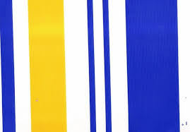 blue and yellow striped rugby shirts