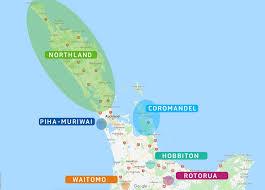 auckland possède une situation géographique idéale pour visiter quelques uns des prinux lieux de l île du nord