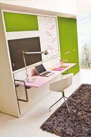 Poppi Board - Wall bed w. Desk mounted on front