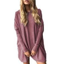 LETSRUNWILD <b>Women's Round Neck Oversized</b> Sweaters Long ...