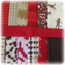 47 best Sock Monkey images on Pinterest | Alphabet wall, Baby ... & Vintage Chenille Bedspread Sock Monkey Quilt Squares Kit 64pc Patchwork  Top. $54.95, via Etsy Adamdwight.com