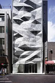office facade. Ginza, Tokyo, Japan, Glazed Façade, Amano Design, Double Skin Office Facade