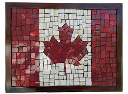 canada maple leaf flag mosaic wall art mural on wall art tiles canada with canada maple leaf flag mosaic wall art mural the craft company by