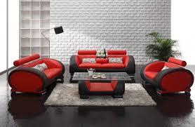 furniture red sofa design ideas black