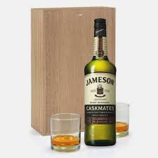 send jameson caskmates irish whiskey gift set with gles