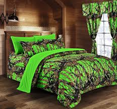 regal comfort biohazard green camouflage queen 8pc premium luxury comforter sheet pillowcases and bed skirt set by camo bedding set for hunters teens