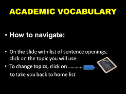 academic vocabulary how to navigate ppt video online  academic vocabulary how to navigate