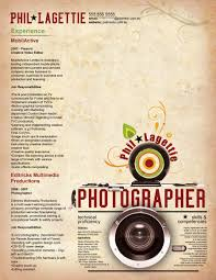 Resume - Photographer 2 By Orangeresume On Deviantart