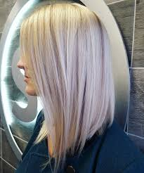 Lob Long Bob Platinum Blonde Icy Blonde Lowlights Aloxxi