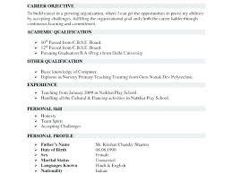 Teacher Resume Format In Word. Simple Resume Format Word Cool High ...
