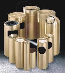 Designer Trash Receptacles Brass Trash Can Brass Waste Receptacle Metal Trash Container