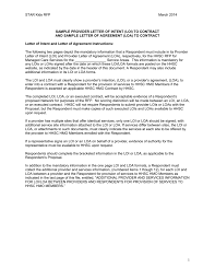 Sample Letter Of Intent Texas Health And Human Services