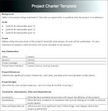 project charter construction project charter template construction example pdf it simple