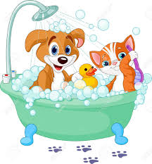 free clipart bathtime for dogs