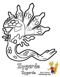 Small Picture Pokemon Coloring Pages Zygarde artereyinfo