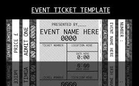 Party Tickets Templates Event Ticket Template By ForCertain Cute Stufff Pinterest 12