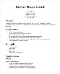 Bartender Resume Sample Best Bartender Resume Skills Elegant What To Put In The Skills Part A