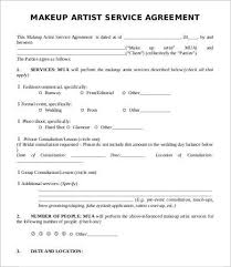 artist contract template 10 free word pdf doents with makeup artist contract