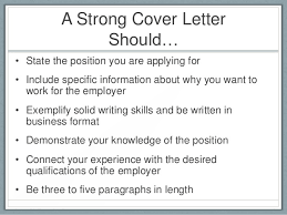 What Should A Cover Letter Consist Of 1 What Should A Resume Contain