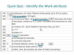 quick quiz identify the work attribute