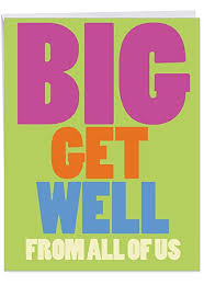 Get Well Card Nobleworks Big Get Well From Us Feel Better Card With Envelope Large 8 5 X 11 Inch J3897gwg