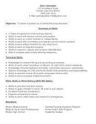 Sample Nursing Assistant Resume 8 9 Resume Examples For Nurses Assistant Samples