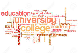 Word College University And College Education Word Cloud Illustration Word