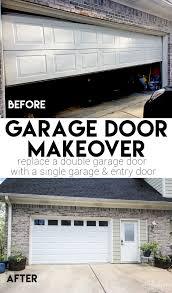 replacing a double garage door with single exterior door