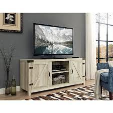 walker edison furniture pany 58 in barn door tv stand with side doors white