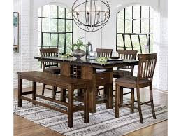 Homelegance Schleiger Industrial Counter Height Table Chair Set