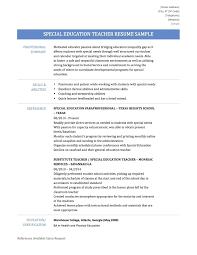 Special Education Teacher Resume Resume Special Ed Teacher Resume 26