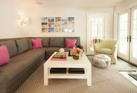 rug size for sectional sofa roselawnlutheran hot pink rug living room