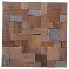15 75 x15 75 kayu mosaic teak wall tiles set of 6 contemporary wall and floor tile by ecotessa