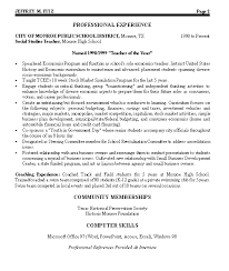 Civic Leader Political Resume Example